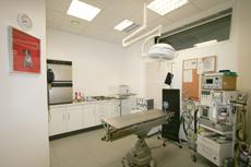 OP mit Narkosegerät der Tierarztpraxis Dr. Jörg Bauer in Berlin