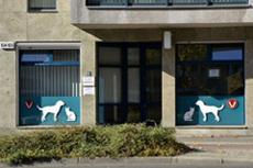 Praxis außen der Tierarztpraxis Dr. Jörg Bauer in Berlin